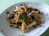 タケノコとキクラゲの炒め物