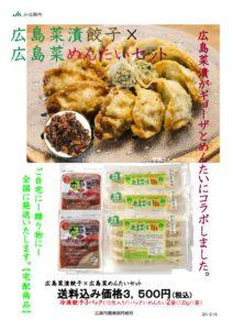 R030.6.10~08.10 広島菜漬餃子と広島菜めんたいのセットのサムネイル